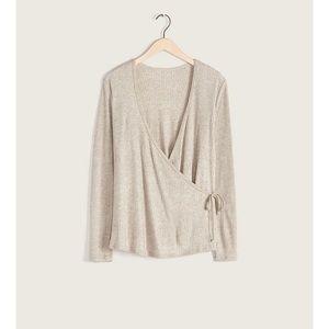 NWOT Addition Elle Knit Wrap Front Blouse/Top